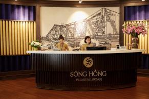 Khu quầy lễ tân Sông Hồng Premium